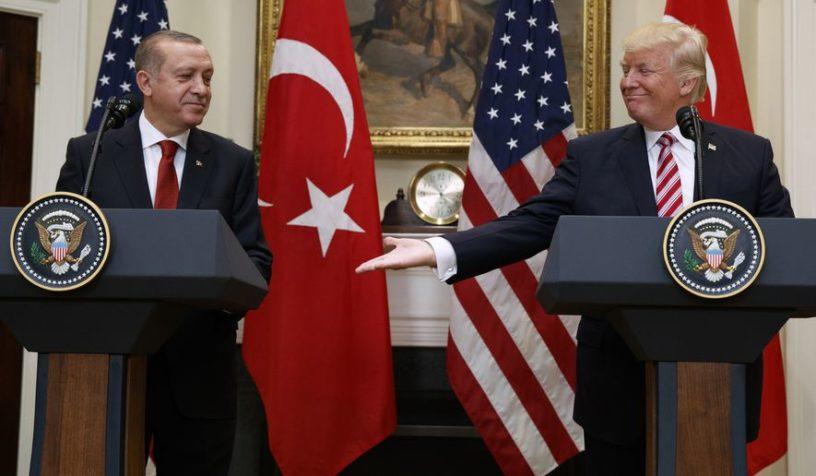 Թուրքիայի նախագահ Ռեջեփ Թայիփ Էրդողանը և ԱՄՆ նախագահ Դոնալդ Թրամփը