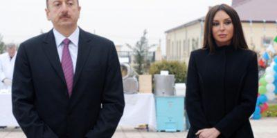 Ադրբեջանի նախագահ Իլհամ Ալիևը և նրա կինը՝ առաջին փոխնախագահ Մեհրիբան Ալիևան